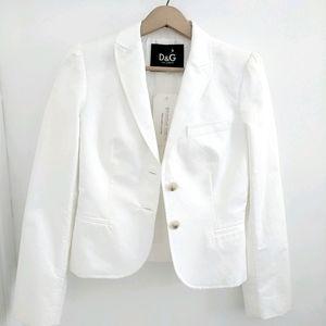 DOLCE & GABBANA White Long Sleeve Jacket